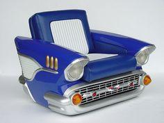 Автомебель для поклонников ретро: диваны и кофейные столики из старых автомобилей :: Виолити - Антиквариат