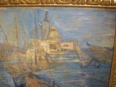 VENICE ITALY  ARTIST GIACOMO CARAMEL www.antichitapietrolupi.com