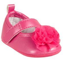 Mary Janes with Chiffon Rosette
