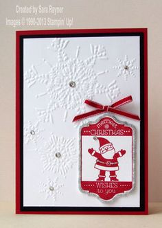 Tag it xmas card stepped up - Stampin' Up!