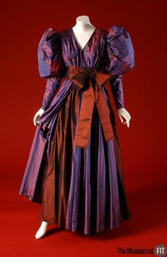 Evening Dress, Yves Saint Laurent, ca. 1980, French, silk taffeta, via Museum at FIT (linked)