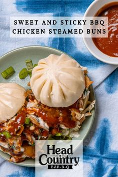 Sweet & Sticky BBQ Chicken Steamed Buns | BBQ Chicken Steamed Bao Buns | How to cook frozen Chinese steamed buns | How to cook steamed buns in the microwave