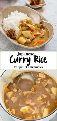 Japanese curry rice is an ever-popular and delicious Japanese take away food. This Japanese curry rice recipe is versatile. It can be made with different types of protein sources such as Beef, Chicken, Pork and Seafood. Also, any vegetables can be used. Japanese typically use curry roux to make curry. Learn how to make easy Japanese curry rice with my step by step recipe and video. #Japanesecurry #Curry #curryrice #Japanesetakeaway #Japanesecurryrecipe #Japanese #chicken #beef #Japaneserecipe Curry Recipes, Pork Recipes, Asian Recipes, Chicken Recipes, Cooking Recipes, Ethnic Recipes, Rice Recipes, Seafood Recipes, Vegetarian Recipes