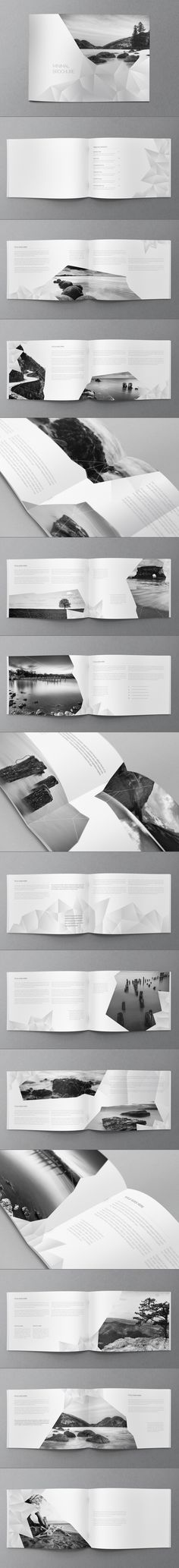 White Minimal Brochure by Abra Design, via Behance