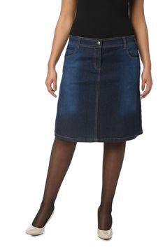 Jupe en jeans délavée, Du 46 au 54