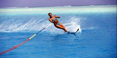 Waterskiing...seems like a one-piece would be a smarter choice though