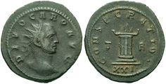 Carus ruled as emperor from 282-283. Like the prior emperors, his time was spent fighting the Goths and other tribes along the Danube. While fighting in mesopotamia, he died, although the causes are unknown. He left two sons, Carinus and Numerian, as co-emperors.