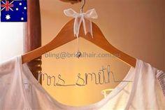 Personalised Coat Hanger Bridal Hanger Custom Made by BridalBlings, $25.00