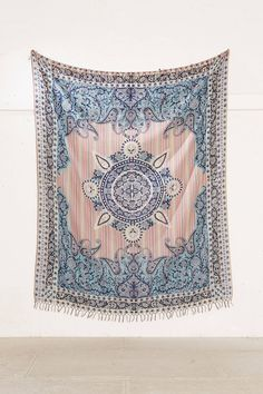 Slide View: 3: Plum & Bow Estelle Medallion Tapestry