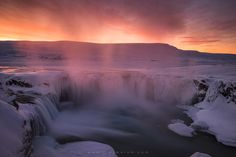 "Roses of Goðafoss - ​Another shot from a crazy sunset in Goðafoss. The spray rising from the waterfall was colored a deep pink by the flaming sunset light. This image was taken during my '<a href=""http://www.erezmarom.com/index.php/photography-workshops/view/winter-paradise-north-iceland-winter-photo-workshop"">Winter Paradise</a>' northern Iceland workshop this January. If you'd like to experience and shoot these amazing locations yourself, please see the full details on my website and join…"