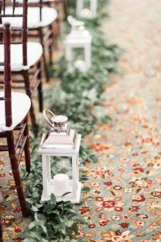 Greenery wedding ceremony decor with lanterns Greenery wedding ceremony decor with lanterns. wedding ceremony Greenery wedding ceremony decor with lanterns Wedding Aisles, Winter Wedding Ceremonies, Wedding Aisle Decorations, Wedding Lanterns, Wedding Centerpieces, Fall Wedding, Wedding Ideas, Dream Wedding, Wedding Aisle Outdoor