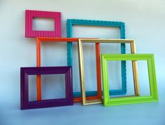 Perfect time to start looking for gifts like these colorful frames. Hang on the wall for an instant piece of art! #frames #art #bedroom #decor #colorful #kidsroom #gift #giftideas