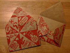 Made my own envelopes for Day 6 of 30 Days of Creativity. Used paper created by the design shop Popcorny.