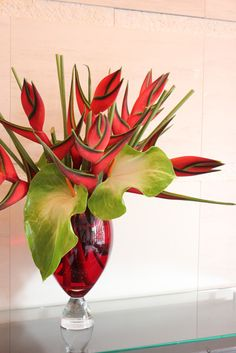 heliconia with giant anthuriums