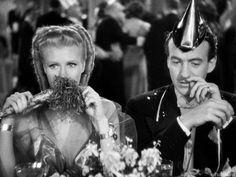 Ginger Rogers and David Niven in Bachelor Mother (1939).