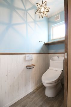 Excite Your Visitors with These 30 Cute Half-Bathroom Styles Small Toilet Room, Tiny Powder Rooms, House Rooms, Bathroom Interior, Interiores Design, Interior Architecture, Home Furniture, House Design, House Styles