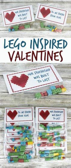 LEGO inspired classroom Valentines