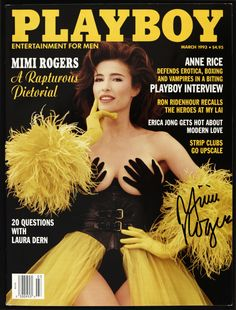 Playboy Magazine March 1993 Mimi Rogers Anne Rice Laura Dern Ron Ridenhour New Mimi Rogers, Magazine Japan, Jeri Ryan, Anne Rice, Glamour Magazine, Modern Love, Vintage Glamour, Tom Cruise, Cover Photos