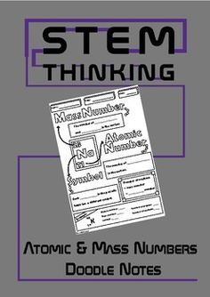 Atomic Number, Mass Number Middle School Chemistry Doodle NotesThese notes will help your students to review the concepts of atomic number and mass number.Students color & complete then add to their own science notebookNo prep - just print & goYou might also like:Structure of an Atom Doodle Notes Be the first to know about my new product launches.
