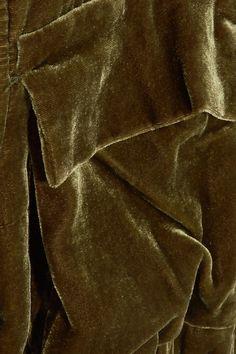 By Malene Birger - Banu Velvet Bomber Jacket - Army green