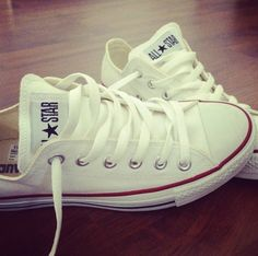 white converse. Summer must have. red white and blue