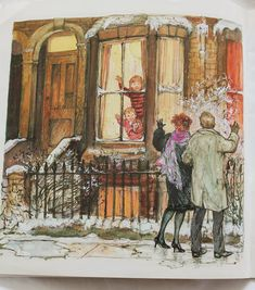 Beautiful art by the illustrator's illustrator, Shirley Hughes , from one of her delightful ' Alfie' books , ' An Evening at Alfie's '… . Christmas Illustration, Children's Book Illustration, Book Illustrations, Shirley Hughes, Christmas Art, Country Christmas, Christen, Penny Black, Vintage Art