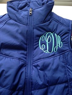 Monogrammed Puffer Vest | Monogram Puffy Vest | Monogrammed Preppy Vest | Monogram Apparel | Monogram Sweatshirt | Personalized Gifts Lexington Kentucky