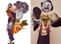A partir do trabalho da estilista Kathi Kauder  e da fotografia de moda de Sabrina Theissen , o ilustrador – já conhecido por suas mixagens de imagens – Ashkan Honarvar desenvolveu essas colagens para a I Love You Magazin