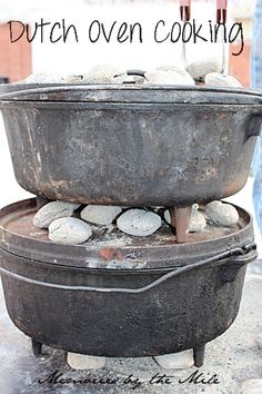 Dutch Oven Cooking @ http://www.memoriesbythemile.com/