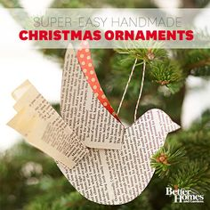 Easy Christmas Ornaments~~Get ready for holiday decorating and gift-giving with these ideas for handmade ornaments your family and friends will treasure. Easy to make, these beauties will adorn your Christmas homes for years to come.