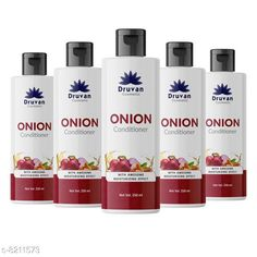 Conditioner Druvan Cosmetic Onion Conditioner For Hair Growth - Anti-Hair Fall Pack of 5 (250ml)  Product Name: Druvan Cosmetic Onion Conditioner For Hair Growth - Anti-Hair Fall Pack of 5 (250ml)  Brand Name: Druvan Cosmetic Hair Type: All Hair Type Flavour: Onion Multipack: 5 Country of Origin: India Sizes Available: Free Size   Catalog Rating: ★4.2 (398)  Catalog Name: Druvan Cosmetic Proffesional Ultra Conditioner CatalogID_1368119 C166-SC2040 Code: 414-8211573-5991