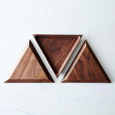Walnut Triangle Trivet Tray Set on Provisions by Food52