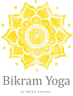 bikram yoga brick canvas
