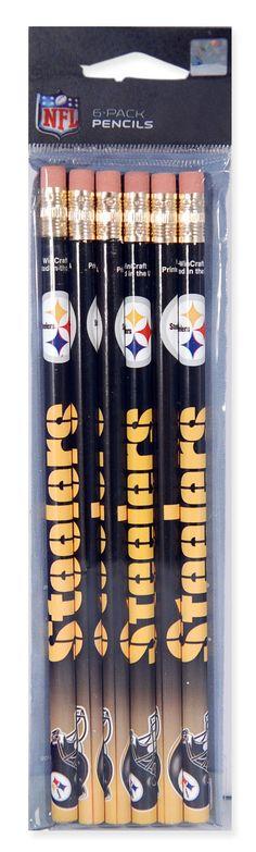 WRST1 Pencils 6 Pack Pittsburgh Steelers