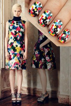 MANICURE MUSE: Erdem Pre-Fall '13 Sorry gents, cleavage is...