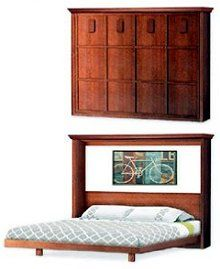 Mission Murphy Horizontal / Side King Wall Bed Frame, Woodworking Plans