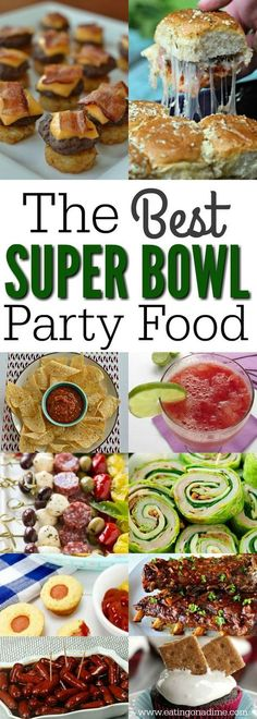 Find tons of super bowl party food menu ideas. 75 Super Bowl recipes to feed a crowd. Superbowl food from appetizers, main dish and dessert!