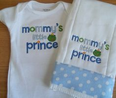 Mommy's Little Prince Baby Onesie  Burp Cloth  by babytweets, $19.00  so cute!!