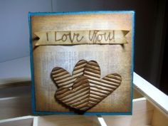 Valentine day card for him #masculine cards #cardmaking #grungy