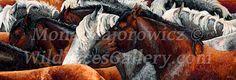 Horse Art, Horse Painting, Wild Horses, Horse Herd, Western Art  - Kindred Spirits - Horse Herd Fine Art Giclee Print