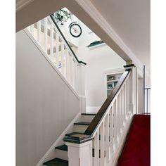 Dark and white staircase