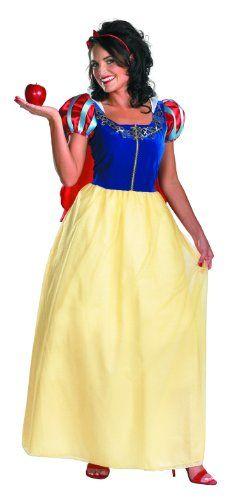 Disguise Women's Disney Snow White Deluxe Costume   Halloween Galaxy