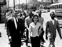 diane nash | Diane Nash, front, leading a demonstration march to City Hall in ...
