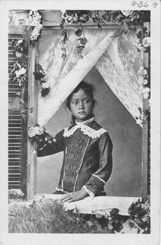 Kaiulani, Princess of Hawaii, 1875-1899.  At approximately 6 years old.  (circa 1881)