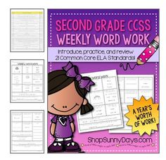 Word Work for every week of the school year - every standard is covered every week. Includes answer keys and standard correlations.