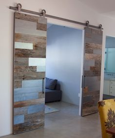 Interior Barn Door With Glass aura etched glass barn doors | frameless glass sliding doors
