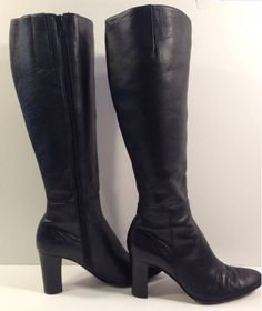 Nine West tall leather boots - $49.97 on eBay