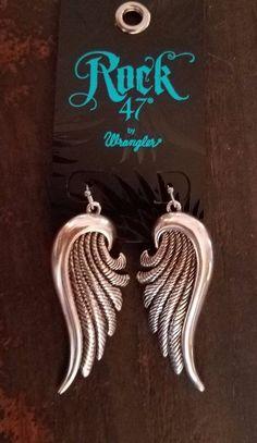 Cowgirl Gypsy Western  ANGEL WING  Earrings WRANGLER ROCK 47  #wranglerrock47 #PIERCED