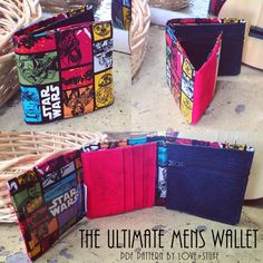 The Ultimate Mens Wallet PDF Pattern - Tri-fold Wallet Pattern by Love+stuff