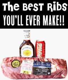 Crockpot Ribs Recipes with Coke - Easy Slow Cooker BBQ Ribs! Ribs have never been easier or tastier than with this easy 3-ingredient recipe! Go grab your crock pot, and give it a try this week! Ribs Slow Cooker Coke, Crockpot Ribs With Coke, Coke Recipes, Slow Cooker Ribs Recipe, Slow Cooked Ribs, Best Bbq Recipes, Delicious Crockpot Recipes, Crock Pot Ribs Recipe With Coke, Rib Recipes